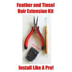 HAIR TINSEL, FEATHERS, HAIR EXTENSION TOOL KIT