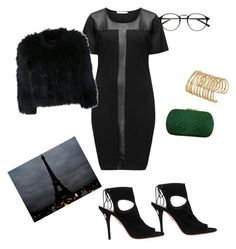 """""""touch of envy"""" by vay-brown on Polyvore featuring Studio, Aquazzura and H Brand"""