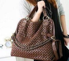 Sacos de designers de Marca 2013 das mulheres da forma bolsas de alta qualidade coreana de tecelagem GRID ombro para mulher genuína bolsas de couro PU 19.22