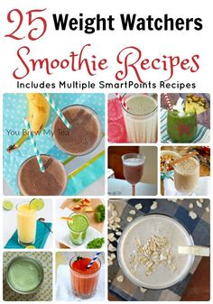 Weight Watchers Smoothie Recipes are a great healthy breakfast or snack! Many of these are even SmartPoints recipes!