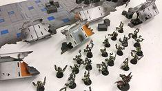 Get da loot Boyz!! Our destroyed forward base wall on our current Kickstarter b#LaserTerrain #orks40k #warhammer40k #tabletopterrain #infinitythegameterrain