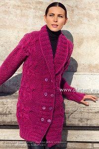 Fuchsijový dlouhý svetr | PLETENÍ – NÁVODY