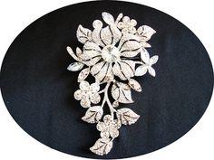 MADELINE  Large Vintage Inspired Flower by HannabellaDesigns, $59.00