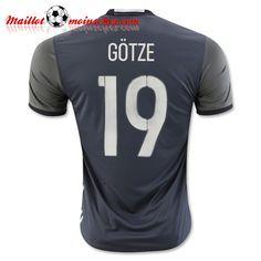 Replica: Nouveaux Maillot Equipe de Allemagne GOTZE 19 Exterieur 2016 2017 fr-moinscher