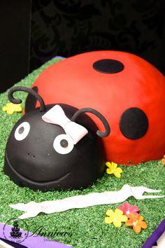 Ladybird designer cake by Annica's