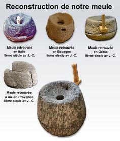 Meule retrouvée à Aix-en-Provence IIème siècle av J.-C.