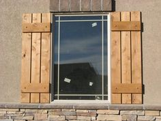reclaimed wood shutters exterior - Google Search | Rustic Exterior ...