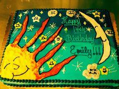 Sheet cake designed by birthday girl