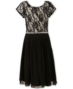 Speechless Girls' Floral Lace Dress