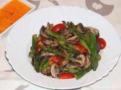 Asparagus-mushroom with orange vinaigrette dressing