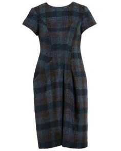 JIL SANDER Checked Mohair and Wool Pencil Dress on shopstyle.co.uk