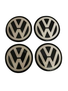 60 mm inches Wheel Center Hub Cap Stickers Emblems for VW Volkswagen