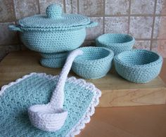 Soup Toureen...PDF Crochet Pattern by KTBdesigns on Etsy, $6.00