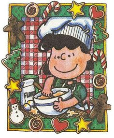 Christmas cooking with Lucy from the peanuts gang Peanuts Christmas, Charlie Brown Christmas, Charlie Brown And Snoopy, Christmas Art, Christmas Cookies, Vintage Christmas, Xmas, Christmas Messages, Christmas Baking