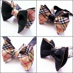 Burberry & Leather Reversible Bow Tie at BoTyZ.com