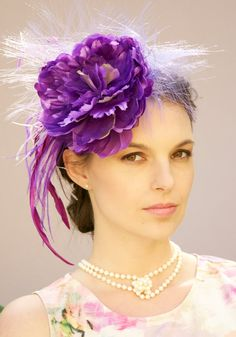 Kentucky Derby Fascinator Hat Headpiece.Wedding by AwardDesign