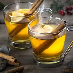 A hot toddy actually does wonders for a sore throat and stuffy head, thanks to its soothing ingredients, like honey and whiskey. A smidge of orange juice and a sprinkle of cinnamon help it go down even easier. Get the recipe.