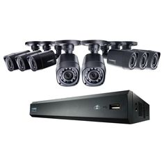 Lorex 8-Channel 720p High Definition DVR with HD Indoor/Outdoor Wired Cameras, 1TB HDD and Flir Cloud Connectivity