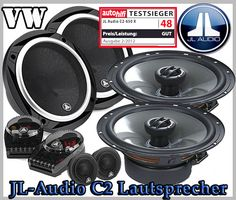 VW Passat B6 Auto Lautsprecher Set, Testsieger JL-Audio C2-650 + C2-650x - Car Hifi Radio Adapter.eu