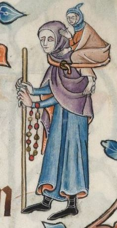 Detail from The Luttrell Psalter, British Library Add MS 42130 (medieval manuscript,1325-1340), f53r
