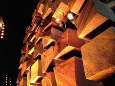 wood blocks and light bulbs
