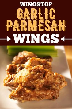 Garlic Parmesan Wings, Parmesan Wings Recipe, Chicken Drumstick Recipes, Chicken Wing Recipes, Wingstop, Quick Easy Meals, Easy Dinner Recipes, Yummy Appetizers, Party Appetizers