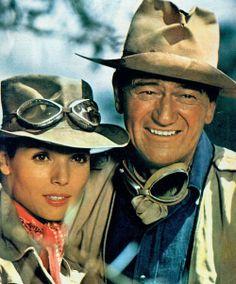 """elsa martinelli, john wayne - """"Hatari!"""" (1962, dir. howard hawks)"""