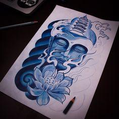 Dibujando hasta q se acabó el lápiz ✏️#buda #buddha #buddhatattoo #tattoo…