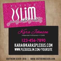 Plexus Slim Glitter Business Cards