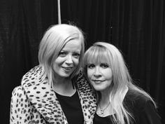 """Shirley Manson with Stevie     ~ ☆♥❤♥☆ ~ Shirley Manson is the lead singer of the band Garbage for those who don't know who she is ~  """"I finally met the legend that is Stevie Nicks. She said things, such sweet, lovely things to me that it brought tears to my eyes. I might never fully recover my equilibrium."""" ~ March 4th, 2017 ~ https://www.facebook.com/shirleymanson/"""