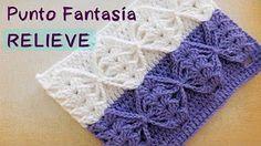 (5) Crochet : Punto en Relieve Combinado - YouTube