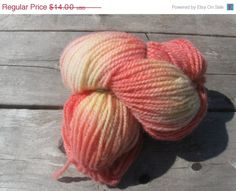 SALE Hand painted wool yarn hank by SignsCapeCodDesigns on Etsy, $12.60