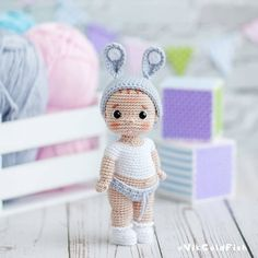 Amigurumi Patterns, Amigurumi Doll, Doll Patterns, Crochet Doll Pattern, Crochet Dolls, Crochet Patterns, Knitted Bunnies, Human Doll, Homemade Toys