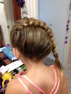 Did bff's lil sis's hair for netball presentation