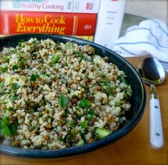 Lemony Lentil Quinoa Salad, easy, healthy, low fat, delicious, packed with protein and fiber, 254 calories, 6 Weight Watchers PointsPlus, 7 WW SmartPoints