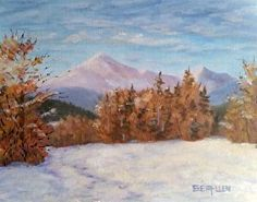 February at First Bridge by Sharon Allen Oil ~ 8 x 10