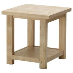 interior rustic unfinished white oak side table with bottom shelf small bed side tables