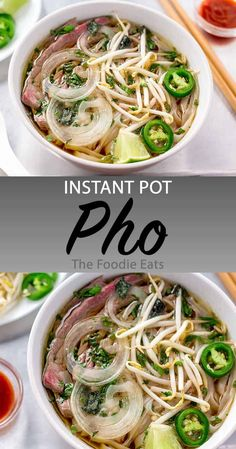 This Instant Pot pho has all the flavor of an authentic preparation, but in a fr. - This Instant Pot pho has all the flavor of an authentic preparation, but in a fraction of the time. Pressure Cooker Pho, Pressure Cooker Recipes, Slow Cooker, Pressure Cooking, Wallpaper Food, Whole30, Cooking Recipes, Healthy Recipes, Fractions