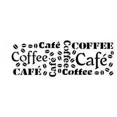 Stencil Molde Vazado Estampa Cafe 10x30 OPA742