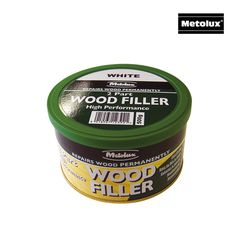 Reddiseals Two Part High Performance Wood Filler are commonly used to repair/fill medium size holes and imperfections in wooden components. After sanding the filler provides a smooth finish which can be coated with most primers, paints and lacquers and will accept nails, screws and staples.  http://www.reddiseals.com/product/metolux-two-part-high-performance-wood-filler/