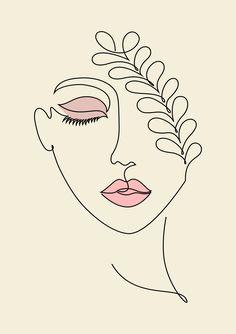Small Canvas Art, Diy Canvas Art, Minimalist Drawing, Minimalist Art, Art And Illustration, Abstract Face Art, Outline Art, Art Drawings Sketches, Minimal Drawings