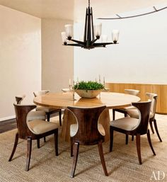 The dining area at one of Sandy Gallin's latest projects, the Grubman home in Beverly Hills.