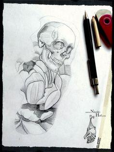 Tattoo#Schädel#Pfingstrose#Skull#Peony#Blume#Nicole Hof#Tattoo Hamburg