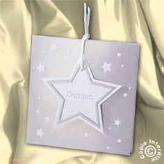 Faire-part de naissance mixte étoile irisée - NW13-056