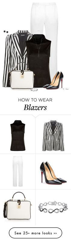 """Just Black & White"" by ksims-1 on Polyvore"