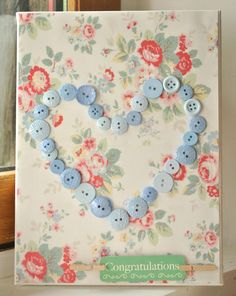 buttons canvas diy - cath kidston prints paper - mother day or teacher gift idea