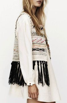 Abigail Doan-such a cute vest, looks like they made it out of one of those rugs