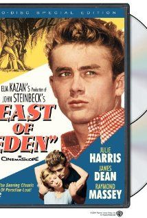 "James Dean as Cal in the film adaption of John Steinbeck's ""East of Eden""  -- one of my favorite books and movies."