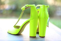 A pair of bright colored shoes is one way to turn heads.