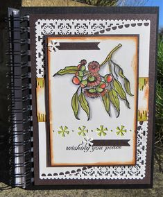We're heading over to Anesha's place today to see two fabulous creations she made using the Eucalyptus clear stamp set. 1st Christmas, Christmas Candy, Infinity Card, Fabric Crafts, Paper Crafts, Texture Paste, Irish Blessing, Altered Books, Digital Stamps